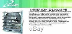 Commercial Wall Mount Shutter Exhaust Fan 16 Workshop Storage Garage Shed Barn