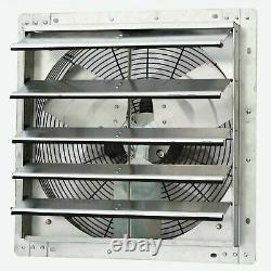 Commercial Wall Mount Shutter Exhaust Fan 18 Variable Speed Garage Shed Barn