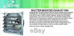 Commercial Wall Mount Shutter Exhaust Fan 30 Workshop Storage Garage Shed Barn