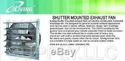 Commercial Wall Mount Shutter Exhaust Fan 36 Workshop Storage Garage Shed Barn