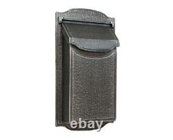Contemporary Vertical Wall Mount Mailbox Residential or light commercial