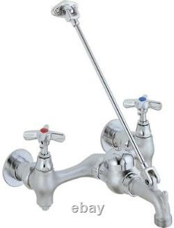 Delta Chrome 2-Handle Wall Mount Bridge Commercial Kitchen Faucet