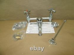 Delta Commercial Two Handle 8 Wall Mount Service Sink Faucet in Chrome 28T9-AC