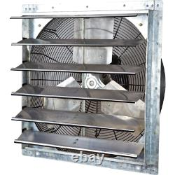 Electric Powered Gable Mount Shutter Fan/Vent Commercial Ventilation Exhaust Fan