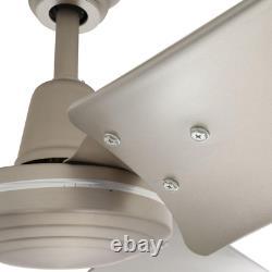 Energy Star Ceiling Fan Work Shop Industrial Garage Wallmount Remote Nickel60 in