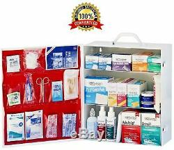 First Aid Cabinet Organizer Large Medicine Kit For Office Commercial Wall Mount