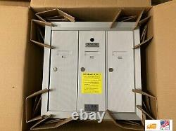 Florence 1250 Vertical Series 3-Compartment Aluminum Recess-Mount Mailbox