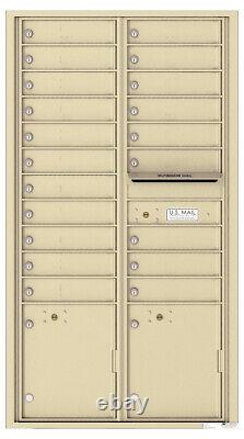 Florence 20 Door / 2 Parcel 4C Mailbox 4C16D-20 Recessed USPS Approved