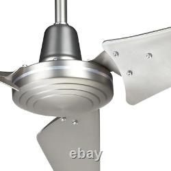 Hampton Bay Ceiling Fan 60 in. Indoor/Outdoor Brushed Steel with Wall Control