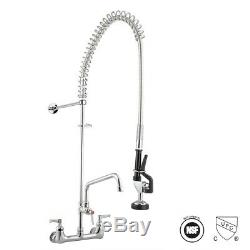 Home Kitchen Sink Faucet Commercial PreRinse Faucet 12 Wall Mount Add-On Faucet