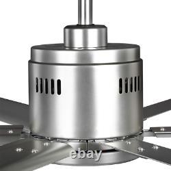 Hubbell Industrial 72 In. Indoor/Outdoor Nickel Dual Mount Ceiling Fan With Wall
