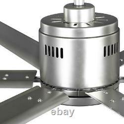 Hubbell Industrial 72 in Indoor Outdoor Nickel Dual Mount Ceiling Fan Wall
