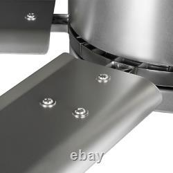 Hubbell Industrial 96 In. Indoor/Outdoor Nickel Dual Mount Ceiling Fan With Wall