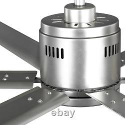 Hubbell Industrial Indoor/Outdoor Nickel Dual Mount Ceiling Fan with Wall 72 in
