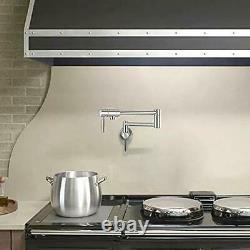 IMLEZON Pot Filler Faucet Stainless Steel Commercial Wall Mount Kitchen Sink