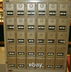 Indoor Commercial Brass Mailboxes 10 Sections-Small, Medium & Large withLock &Keys