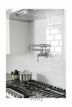 JZBRAIN Pot Filler Faucet Wall Mount Stainless Steel Pot Filler Stretchable D
