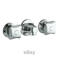 KOHLER Triton 2-Handle Wall Mount Commercial Bathroom Faucet with Grid Drain in