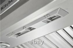 KitchenAid 36 W Commercial-Style Wall-Mounted Canopy Range Hood KXW8736YSS, NEW