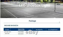 LED Commercial 150 Watt Roadway Garage Industrial Outdoor Area Light 120-277V