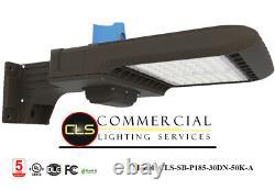 LED Commercial 185 Watt Pole Fixture Wall Mount Warehouse Shop Light Area 277V