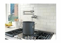 MSTJRY Pot Filler Faucet Wall Mount Stainless Steel Commercial Kitchen Faucet