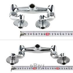 MS Chrome Wall-mount 8 Centerset Commercial Kitchen Pre-Wash Spray Unit Faucet