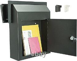 Mail Box Door Drop Rainproof Rent Key Secure Weatherproof Heavy Duty In Wall