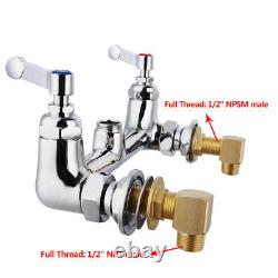 MaxSen 8 Inch Wall Mount Commercial Kitchen Sink Faucet, Pull Out Spray Valve