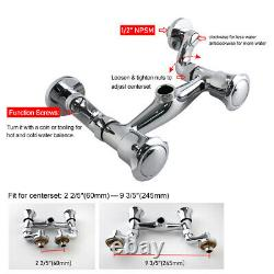 MaxSen Commercial Faucet Wall Mount Kitchen Sink Pre-Rinse Sprayer 25 Height