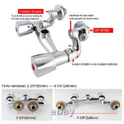 MaxSen Wall Mounted Commercial Kitchen Sink Faucet Brass Pre-Rinse Device Spray