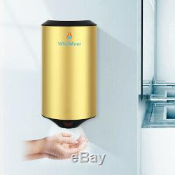 Mini Golden Commercial Stainless Steel Electric Hand Dryer Wall Mount Automatic