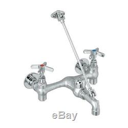 Mop Service Basin Faucet in Polished Chrome Wall Mount Utility Sink Commercial