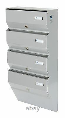 Multiple Postbox 3x Multi Occupancy Indoors Apartment Mailboxes Letter box