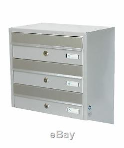 Multiple Postbox- 3x Multi Occupancy Indoors or Outdoors Mailboxes Letter box