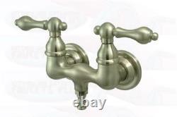 New Clawfoot Tub Faucet Satin Nickel CC31T8