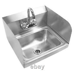 OPEN BOX Commercial Stainless Steel Wall Mount Hand Wash Washing Sink Kitchen