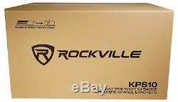 Pair Rockville KPS10 10 1200w Speakers withWall Brackets For Restaurant/Bar/Cafe