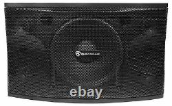 Pair Rockville KPS12 12 1600w Wall Speakers+Amplifier For Restaurant/Bar/Cafe