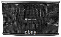 Pair Rockville KPS80 8 800w Speakers withWall Brackets For Restaurant/Bar/Cafe