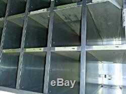 Post Office Boxes Wall Mount 100 Unit Aluminum Key Locking Rear Sorter w Keys
