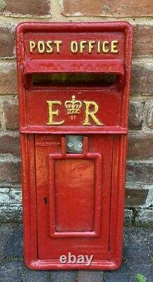 Red Royal Mail Post Box Victorian Style Cast Iron Letter Mail Lockable Keys