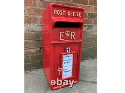 Red Royal Mail Post Box Victorian Style Cast Iron Letter Mail Slots Lockable Key