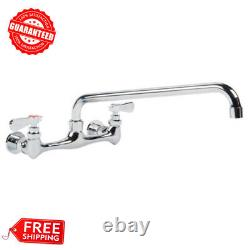 Regency Low Lead Wall Mount Commercial Sink Faucet 8 Centers with 14 Swing Spout