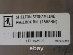 Rejuvenation Shelton Streamline Art Deco Architectural Mailbox