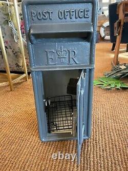 Royal Mail post box ER slate grey ER Grey mail box