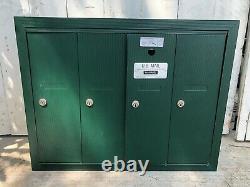 Salsbury 4B Vertical Mailbox 4 Doors Surface Mounted USPS Access