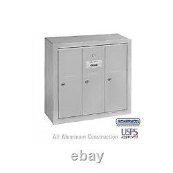 Salsbury Vertical Mailbox 3 Doors Aluminum USPS Access-MAILBOX 3503ASU NEW