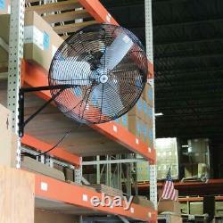 Schaefer Wall Mounted Fan Industrial Commercial 2 Speed 9420/7000 CFM 30 Black