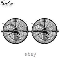 Simple Deluxe 2-Pcs 20'' Wall-Mount Fan High Velocity Commercial Ventilation Fan
